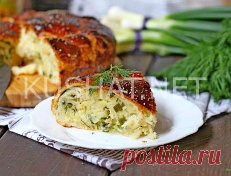 Пирог с брынзой и зеленью. Пошаговый рецепт с фото • Кушать нетКушать нет