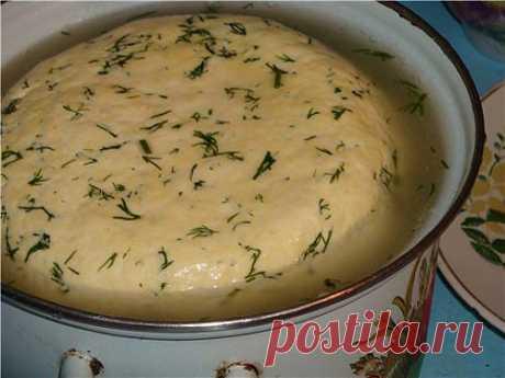 Сыр домаший с зеленью • Блюда из творога и сыра