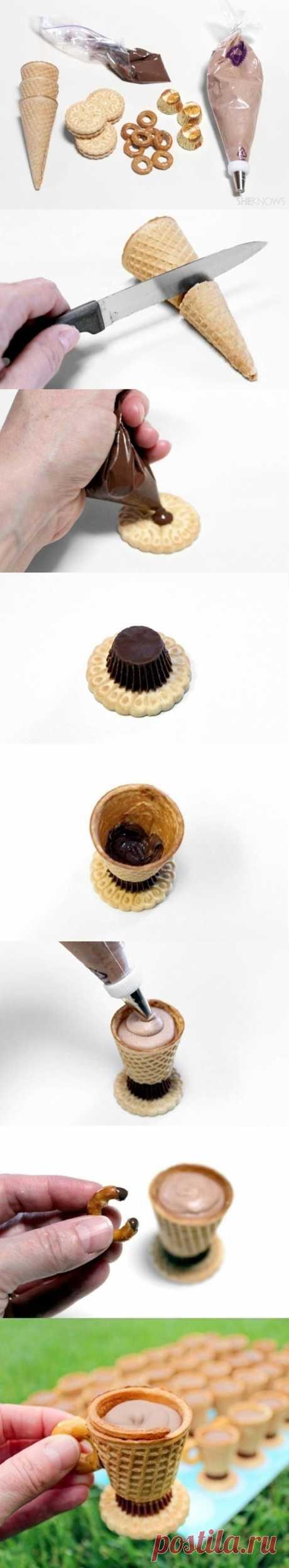 emekliyim.com - Geri Dönüsümün Merkezi: Dondurma Külahlarından Minik Fincanlar/Pratik Tarif