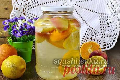 Компот из яблок, апельсина и лимона - фанта на зиму