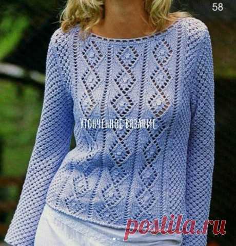 Женский свитер с изумительным узором