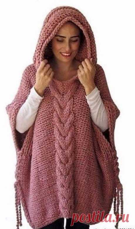 Confortable el poncho con la capucha por los rayos.
