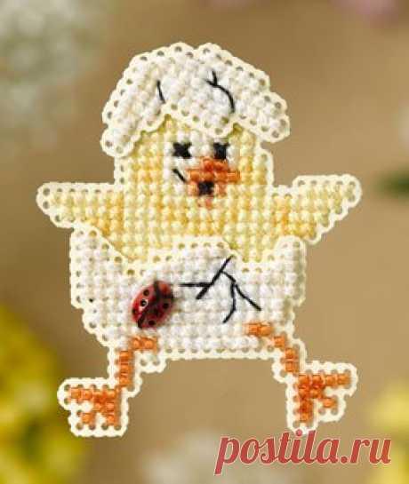 Mill Hill Spring Chick - Beaded Cross Stitch Kit - 123Stitch.com