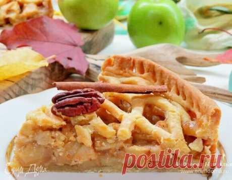 Американский яблочный пирог. Ингредиенты: мука, сливочное масло, яйца куриные Бесподобный пирог: много яблочной сочной и ароматной начинки, хрустящее тесто... Просто must have для осенней поры 🍁🍂 Традиционный американский яблочный пай — один из самых вкусных яблочных пиро...