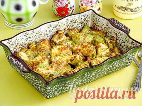 Кабачки с чесноком в духовке, рецепт быстрый и вкусный