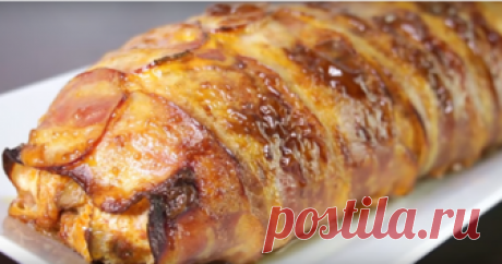 Праздничный рулет из куриной грудки с начинкой-вкусно и просто  Рулет из куриной грудки с грибами и сыром получается потрясающе вкусным и отлично смотрится. Приготовить его сможет даже неопытная хозяйка. Рулет прекрасно подойдет к праздничному столу и понравится …