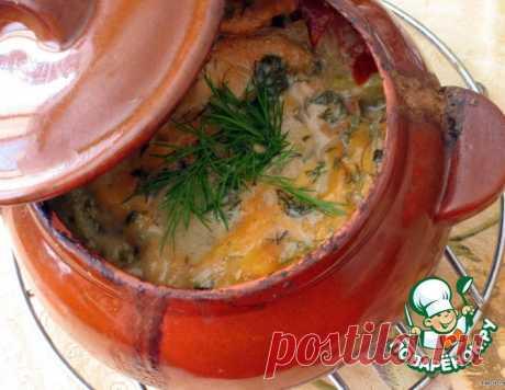 Жаркое в горшочке под сырной шапочкой – кулинарный рецепт