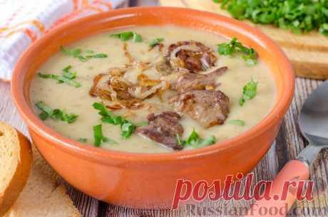 Рецепт: Гречневый суп-пюре с печенью
