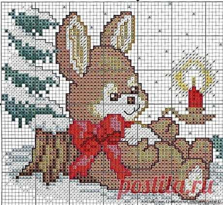 Новогодние жаккард-рисунки для вязания детских вещей