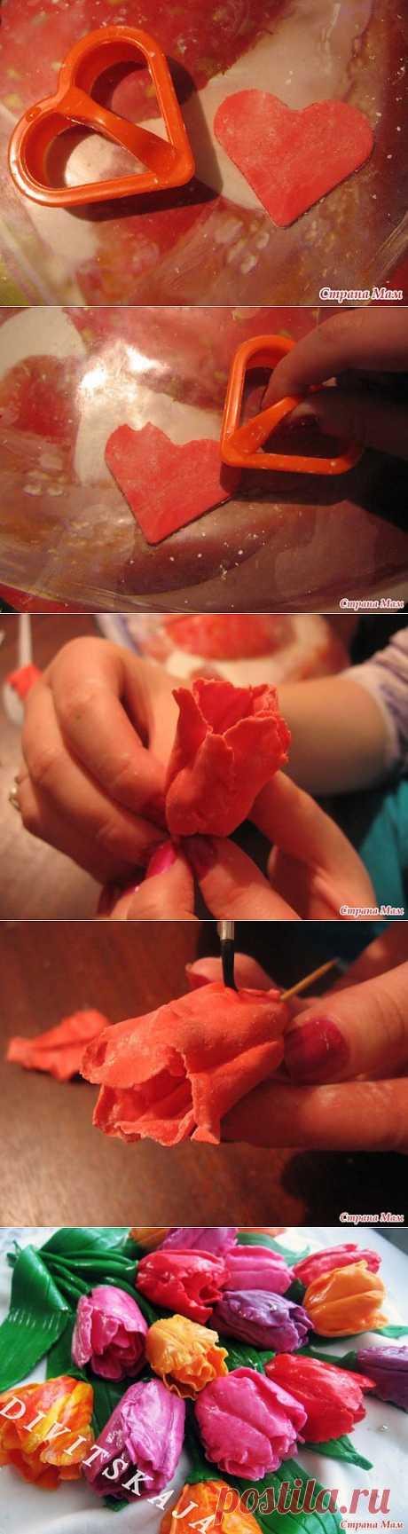 Тюльпаны из мастики МК: Домашнее хозяйство - Страна Мам