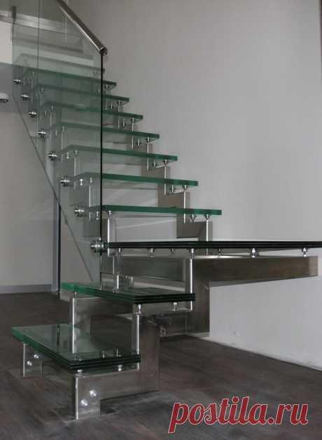 Самонесущие ограждения для лестницы из нержавеющей стали