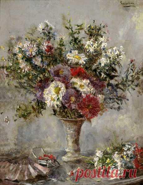 Bouquet of Flowers in Vase by Eduardo León Garrido (Spanish, 1856–1949)