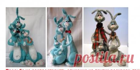 Семейка зайцев - МК по вязанию игрушек - Форум почитателей амигуруми (вязаной игрушки)