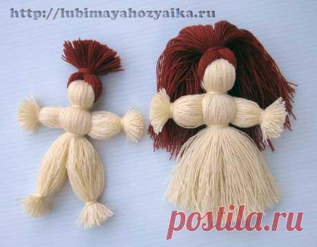 Куклы из ниток - мастер класс по изготовлению