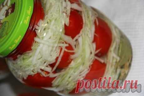 Капуста, маринованная с помидорами на зиму в банках - 11 пошаговых фото в рецепте