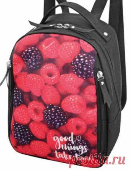 Рюкзак женский 2804-008 ягодки в интернет-магазине Ollbag.ru