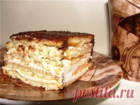 Торт без выпечки из печенья..