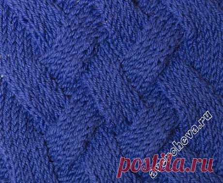 узор 406 широкая плетенка | каталог вязаных спицами узоров