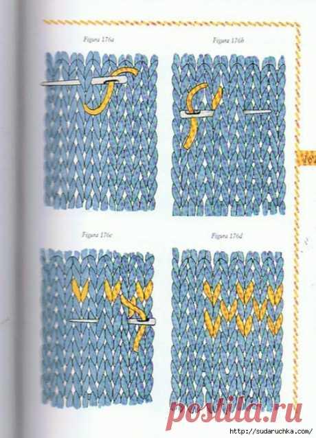 Большая энциклопедия вышивки - самые разные варианты.