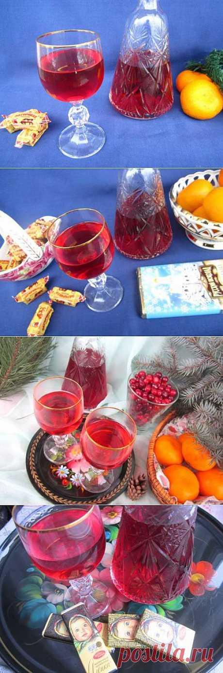 Клюквенная наливка к Рождеству : Напитки алкогольные