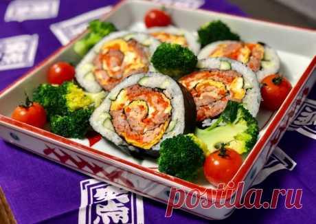 Японские суши роллы из салата 🌹 - пошаговый рецепт с фото. Автор рецепта Эико Касаи 🌳 . - Cookpad