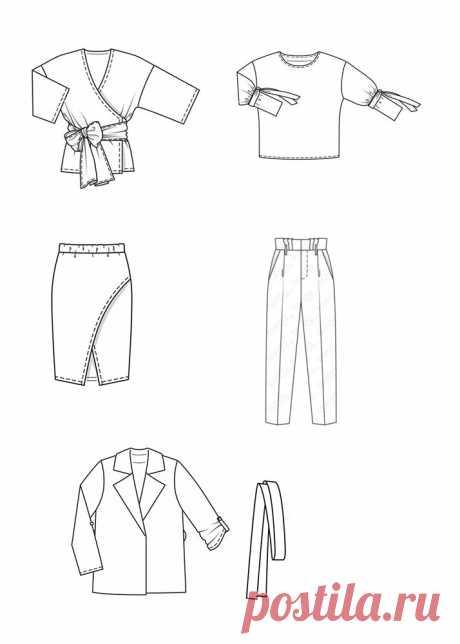 Шьем мини-гардероб для офиса по популярным выкройкам | Шитьё [и] стиль | Яндекс Дзен