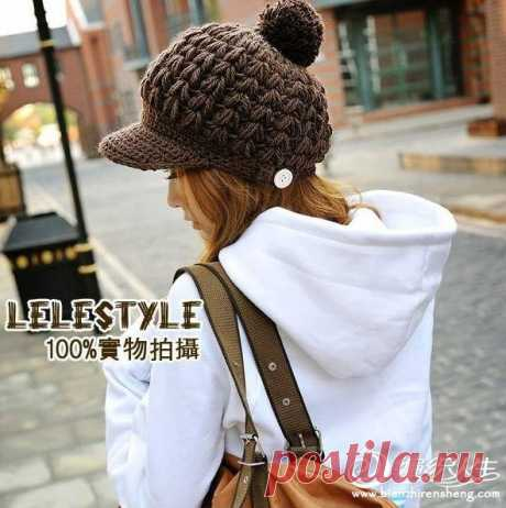 Стильная кепка берет крючком от модниц из Китая   Вязание Шапок - Модные и Новые Модели