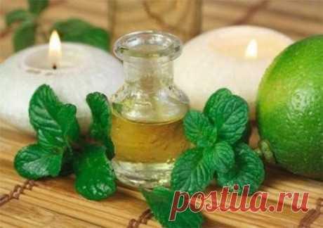 Эфирное масло мяты для жирной, проблемной и комбинированной кожи