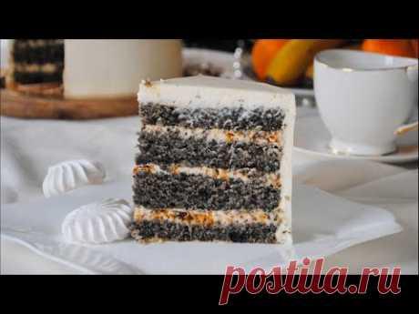 """Вкуснейший Бисквитный Торт """"КУНЖУТНЫЙ"""" 🍰 Самый Влажный ЧЁРНЫЙ Бисквит с Кунжутом 👌🔥 - YouTube"""