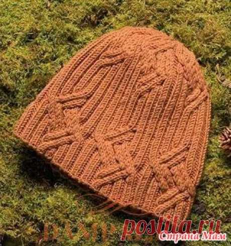 . Мужская вязаная шапка «Parallelogram» - Вязание - Страна Мам