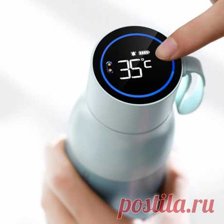 Huawei honor vsitoo 450ml water bottle vacuum thermos lcd temperature display test water quality bluetooth app insulated cup magnetic charging Sale - Banggood.com