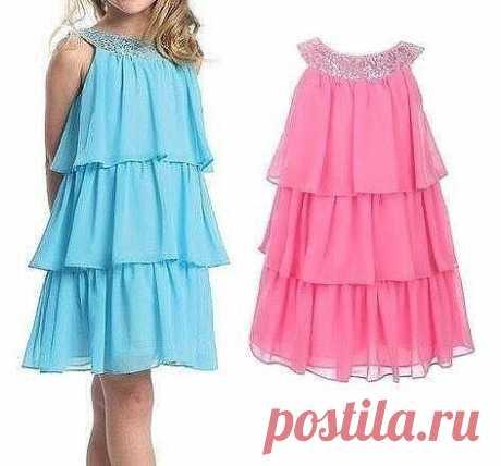 Выкройка воздушного летнего платья для девочки от 1 до 6 лет (Шитье и крой) – Журнал Вдохновение Рукодельницы