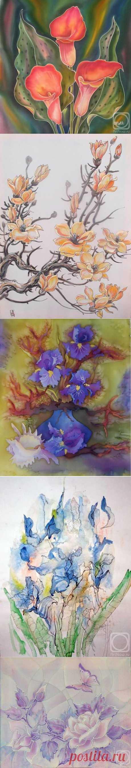 Батик. Цветы (3 часть) (66 работ) » Картины, художники, фотографы на Nevsepic
