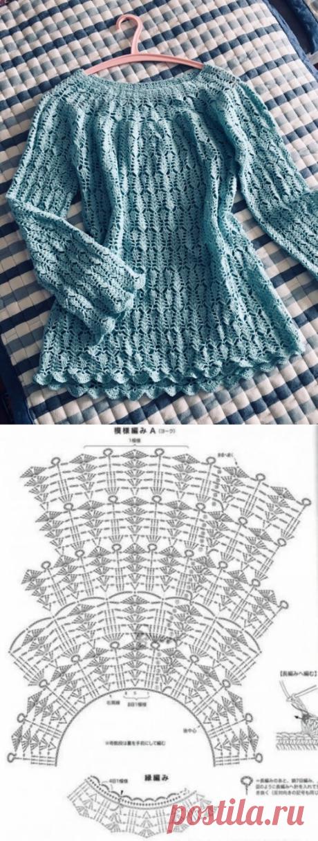 Вяжем очаровательный пуловер