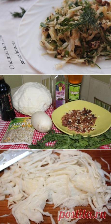 Салат из белокочанной капусты - рецепт с грецкими орехами, дайконом и соевым соусом + фото пошагово