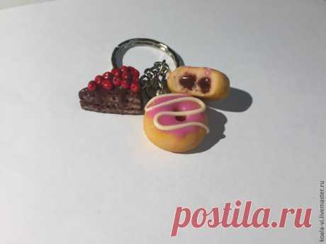 Как сделать брелок «Сладости» из полимерной глины | Журнал Ярмарки Мастеров