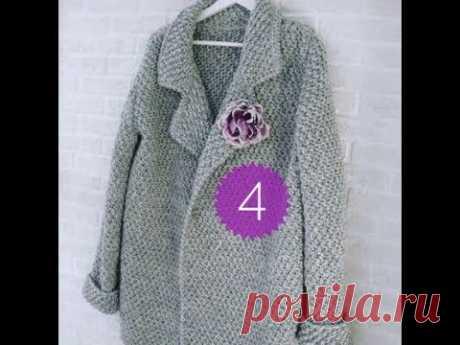 (44) вязаное пальто крючком, кофта крючком, кардиган крючком, кофточка крючком - YouTube