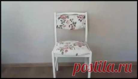 (5) Сестра нашла стул на мусорке и принесла домой. Посмотрите, как она его переделала своими руками! - Самоделкино - медиаплатформа МирТесен