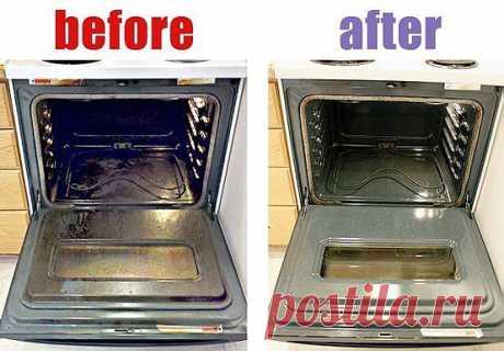 Как легко отмыть духовку..