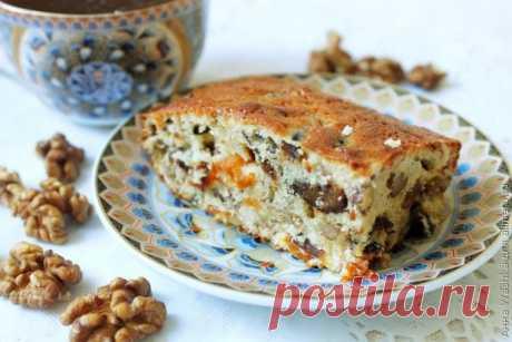 Кекс Ореховая мазурка с сухофруктами / Рецепты с фото