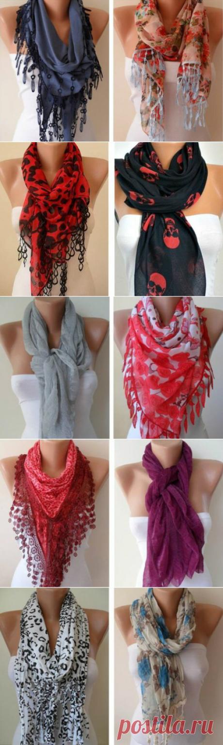 Как правильно носить женский шарф: 58 лучших осенних вариантов! Несколько рекомендаций, как носить шарф, которые сделают Вас элегантной и неповторимой!!!