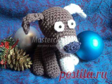 Knitted dog of an amiguruma hook: a step-by-step master class with a photo