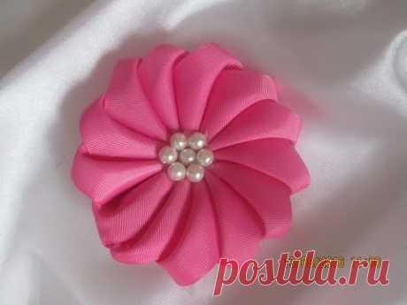 DIY Easy Ribbon flower/step by step-Jesy Jos