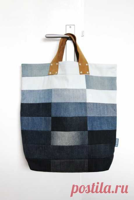 Прикольные джинсовые сумки и рюкзаки. Отличная идея переделки старых джинс! #хендмейд #сумка #переделкаодежды #переделкаджинс #рюкзак #женскаясумка #лоскутноешитье