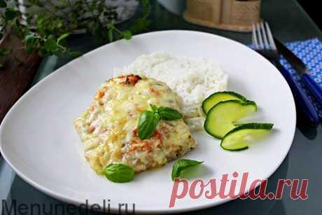 Свинина в духовке с помидорами и сыром / Меню недели