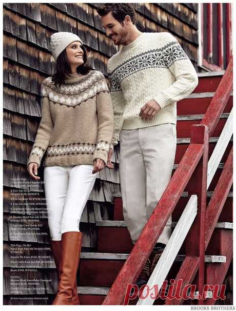 Brooks Brothers Features Men's Fair Isle Sweaters | The Fashionisto