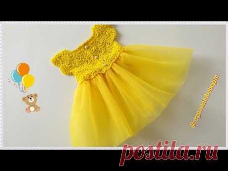 Prenses Bebek Elbisesi Nasıl Örülür? (Başlangıç zinciri 105)