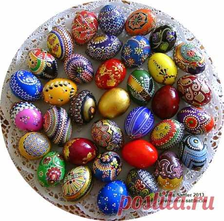 Виды росписи и покраски яиц на Пасху » Женский Мир
