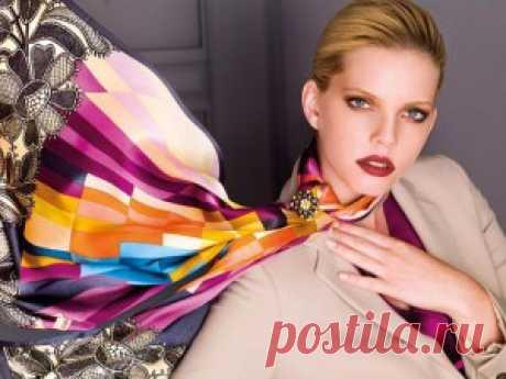 Как завязать платок на шее | Skarletta.ru