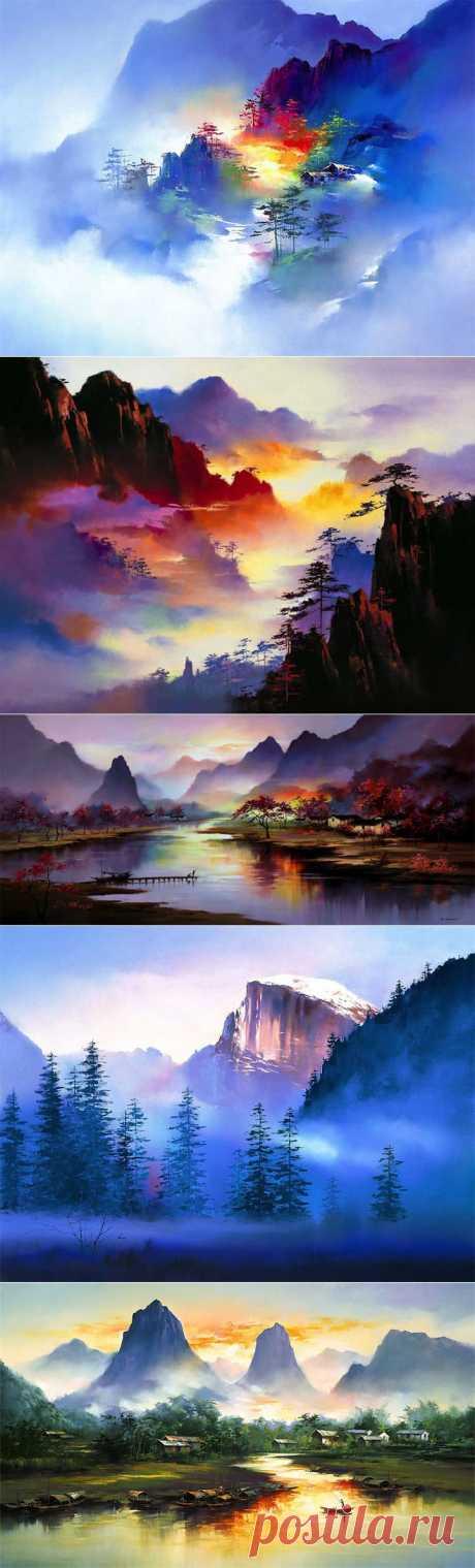 Красочные пейзажные картины от Ken Hong Leung